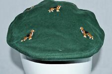 NWT Polo Ralph Lauren Green Chino Embroidered Hound Dog Newsboy Cap Hat SZ S-M