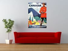 TRAVEL TRANSPORT BUS COACH MOUNTIE MOOSE GIANT ART PRINT PANEL POSTER NOR0370