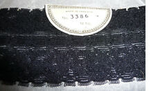 12yds Vintage Stocking Top 7cm Elastic Black Flower Lace Trim