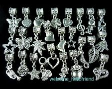 Wholesale 100 Bulk Lots Mixed Dangle Charms Fit European Bracelet FreeShip ZY03
