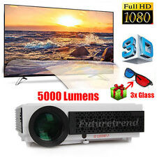 5000 Lumens LED96 Full HD Projector LED LCD 3D Home Cinema USB/TV/VGA 1080P