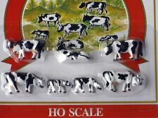 HO SCALE BLACK & WHITE COWS AND CALVES ASSORTED HAND PAINTED FIGURES 5731