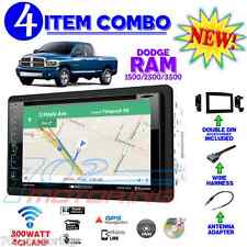 06 07 08 09 10 DODGE RAM BOSS NAVIGATION STEREO RADIO DVD DOUBLE DIN DASH KIT