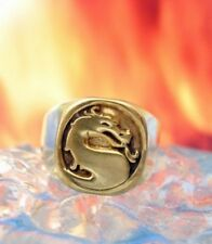 LOOK New Heavy Mortal Kombat Ring Dragon Gold Plated Jewelry