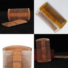 Natural Handmade Sandalwood Portable Anti-Static Comb Beard Mustache Hair Comb