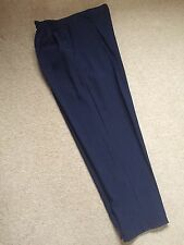 Navy Blue Semi Elasticated Waist Trousers / Hip Pockets - Size 22 ** New **