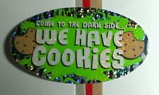 COME TO THE DARK SIDE WE HAVE COOKIES STAR WARS METALLIC SMALL PRISMATIC STICKER