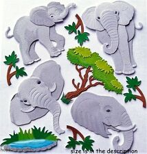 EK SUCCESS JOLEE'S BOUTIQUE 3-D STICKERS - AFRICA SAFARI ZOO ANIMALS - ELEPHANTS
