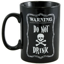 NEW Warning Do Not Drink Witches Potion Skull & Crossbones Halloween Coffee Mug