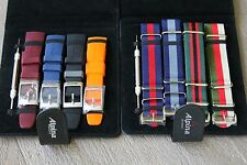 Alpina 22mm Strap Sets 4 Rubber Bands & Nylon Straps for Chronographs & Divers