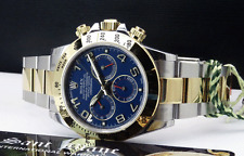 ROLEX - NEW 2015 18kt Gold & SS DAYTONA Blue/Red RACE Arabic 116523 - SANT BLANC
