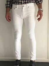 YSL YVES SAINT LAURENT PARIS WHITE SKINNY FIT DENIM JEANS $1035 Made in Japan