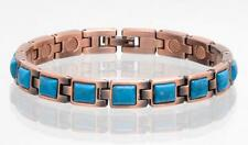 NEW COPPER MAGNETIC TURQUOISE LINK BRACELET  womens STYLE#TQ-SQ  jewelry health