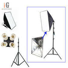 Lighting Softbox 50*70cm+ 4in1 E27 Socket Lamp Head European+195cm light stand