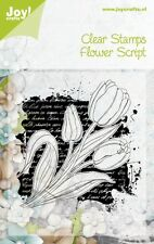 Joy Crafts-Transparente Sellos De Goma-Flor Script - 6410/0341 reducido