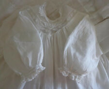 Antique Victorian Baby Fine Cotton Lace Christening Gown Dress Doll Dress