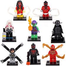 Spider-Woman man Green Goblin Shadows Gwy 8 Minifigures Building Bricks toy lEGO
