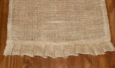 "Table Runner Primitive Country Farm House Chic Ruffled Burlap  13"" X 36"""