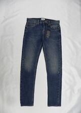 Quiksilver Boys Low Bridge Blue Damaged Youth Jeans Sz 26/12 EQBDP03110