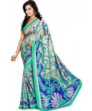 Designer Bollywood Indian Ethnic Saree Printed Malgudi Silk Beutiful Sari Blouse