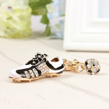 Football Shoe Sport Lovely Charm Pendant Crystal Purse Bag Car Key Ring Keychain