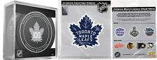 TORONTO MAPLE LEAFS PUCK & PATCH CENTENNIAL 100 YEARS ANNIVERSARY SEASON NHL