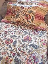 Colonial Williamsburg King Size Comforter,  2 King Shams Multi-Color Paisley USA