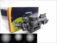 Sniper 4X32 Scope Illuminated Red/Green/Blue Reticle With Tri Rails 20mm x4 Zoom