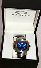 OAKLEY BLADE II WATCH SUNBURST BLUE FACE STAINLESS W/ UNOBTANIUM BRAND NEW