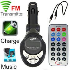 Wireless Car Kit MP3 Player FM Transmitter SD USB Charge Handsfree For CellPhone