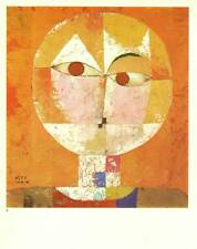 "Klee Authentic Vintage Print 1972 ""Senecio"""