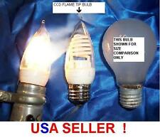 CCF 03 COLD CATHODE 3 WATT flame tip LIGHT BULB 120 volts ac night light cfl