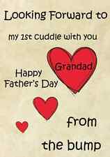 1st cuddle Grandad from bumb Father's Day A5 Personalised Greeting Card pidb11