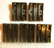 Battery holder for 3 X 'AA' (UM-3) cell - with pins for PCB mounting- pack of 5