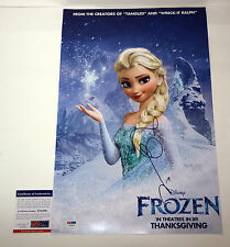 IDINA MENZEL LET IT GO FROZEN SIGNED AUTOGRAPH MOVIE POSTER PSA/DNA COA #W57934