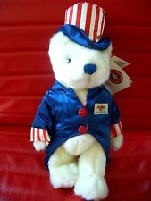 HRC Hard Rock Cafe Amsterdam 4th July Teddy Bear 2001 Made By Herrington LE120