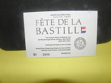 1991 BASTILLE DAY RAFFLE TICKETS # 2004-2007-2008- BOSTON MASS.
