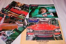CHRISTINE ! john carpenter jeu photos cinema lobby cards cars plymouth fury