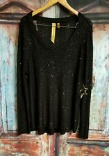 """""""There is a  Star in Every Women"""" Black Sequined Sweater Womens Sz 4X NWT"""
