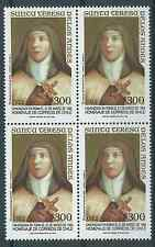 CHILE 1993 Teresa de los Andes religion catholic church MNH block of 4