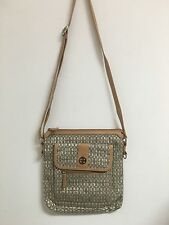 Original GIANI BERNINI HANDBAG, MONOGRAM CROSSBODY BROWN PURSE US SELLER C42