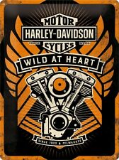 Harley Davidson Wild at Heart Blechschild Schild Blech Metal Tin Sign 30 x 40 cm