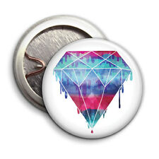 Diamond  - Button Badge - 25mm 1 inch - Hipster Indie