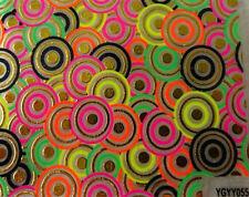 Accessoire ongles,nail art,  Sticker autocollant , cercles fluo, noirs et dorés