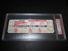 1962 WORLD SERIES FULL TICKET GM#6  YANKEES VS GIANTS  PSA 4   MARIS HITS HR