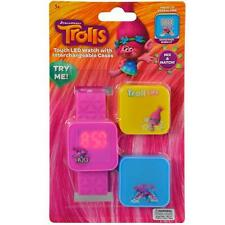Trolls Touchscreen watch with silicone strap and 3 interchangeable tops