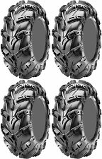 Four 4 CST Wild Thang ATV Tires Set 2 Front 25x8-12 & 2 Rear 25x10-12 CU05