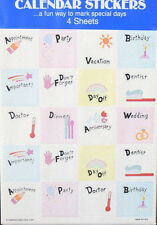 NEW in Package Calender Stickers American Greetings 4 Sheets