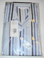 DEREK ROSE PYJAMAS stripe blue WINDSOR XL Xlarge  44 100% cotton BNWT RRP£153