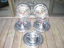 1966 BUICK SKYLARK SPECIAL 2 BAR SPINNER HUBCAPS 1960s 1965 (5) A SET PLUS ONE